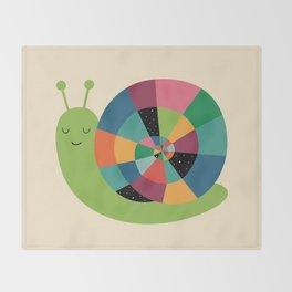 Snail Time Throw Blanket