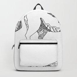 American Buffalo Doodle Art Backpack