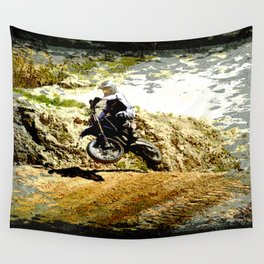 Dirt-bike Racer Wall Tapestry