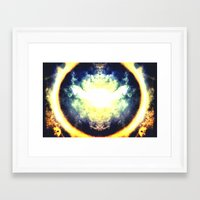 halo Framed Art Prints featuring HALO by Chrisb Marquez
