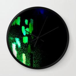 City Lights in the Rain Wall Clock