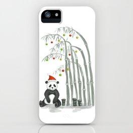 Christmas Panda iPhone Case
