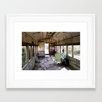 train Framed Art Prints featuring train by Pilar Parada