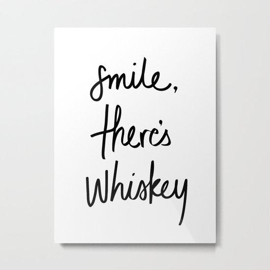 Smile - Whiskey Metal Print