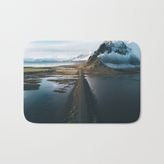 Mountain road in Iceland - Landscape Photography Bath Mat
