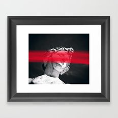 Face Me With Red #society6 #home #tech Framed Art Print