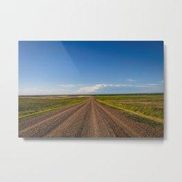 Summer Roads, Glasgow, Montana Metal Print