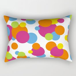 Multicolored Confeti Rectangular Pillow