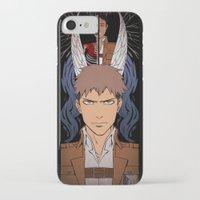 shingeki no kyojin iPhone & iPod Cases featuring Shingeki no Kyojin - Jean card by kamikaze43v3r