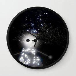 space snowman Wall Clock