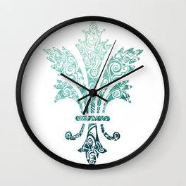 Fleur De Lis - French - Blue Wall Clock