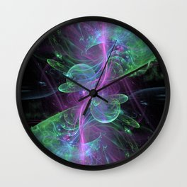 Reaction Green Purple Wall Clock