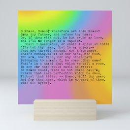 Rainbow Shakespeare (Balcony Scene) Mini Art Print