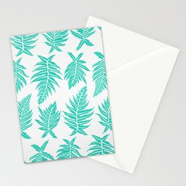Inked Ferns – Turquoise Palette Stationery Cards