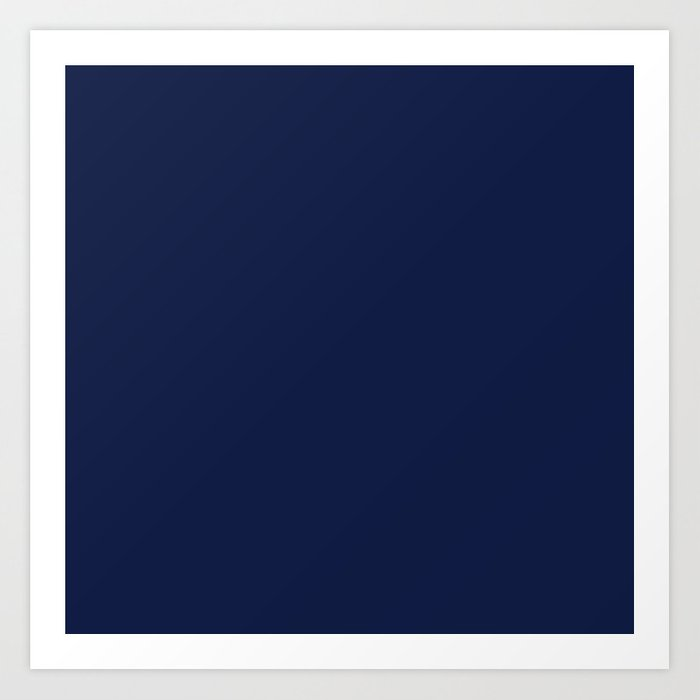 Navy Blue Minimalist Solid Color Block Kunstdrucke