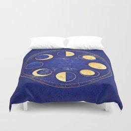 Celestial Atlas :: Lunar Phases Duvet Cover