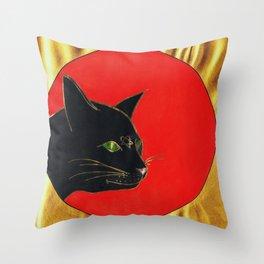 « Un bel gatto forte, dolce e vezzoso passeggia nel mio cervello come a casa sua. »  Throw Pillow