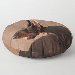Dobermann - Doberman Pinscher Floor Pillow