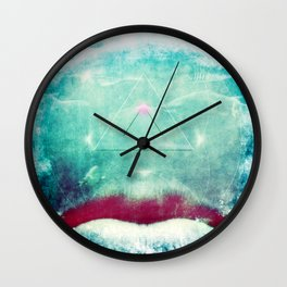 Abstract Underwater Smile Wall Clock