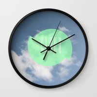 cloud Wall Clocks featuring CLOUD by Jackson Todd