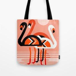 Posse - flamingo throwback nostalgia retro neon art print hipster trendy style minimal abstract geo Tote Bag