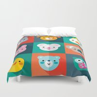 jazzberry Duvet Covers featuring PET PARADE by Daisy Beatrice