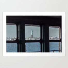 Statue of Liberty from the ferry Art Print