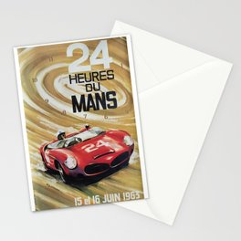 1963 Le Mans poster, Race poster, car poster, garage poster Stationery Cards