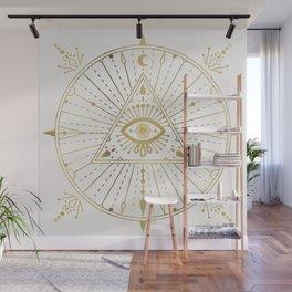 All-Seeing Eye Mandala – Gold Palette Wall Mural