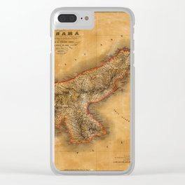 Map of Panama 1864 Clear iPhone Case