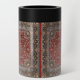 N63 - Red Heritage Oriental Traditional Moroccan Style Artwork Can Cooler