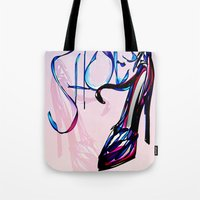 shoes Tote Bags featuring Shoes by Digital-Art