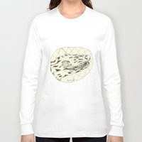 crocodile Long Sleeve T-shirts featuring Crocodile by Mr. JJ