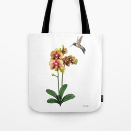 Hummingbird & Phalaenopsis Tote Bag