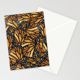 Monarch Butterfly Wing Collage Stationery Cards