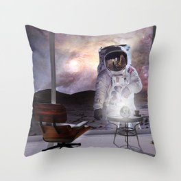 Moon Vacation Throw Pillow