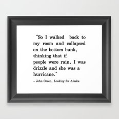 She Was a Hurricane Framed Art Print