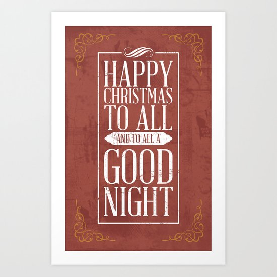 Happy Christmas Art Print