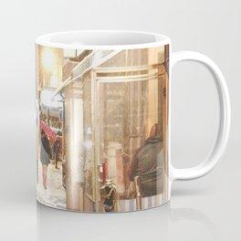 New York City - Snow at Night - Ludlow Street Coffee Mug