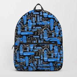 Gamer Lingo-Black and Blue Backpack