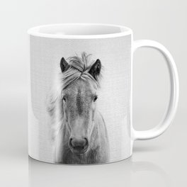 Wild Horse - Black & White Coffee Mug