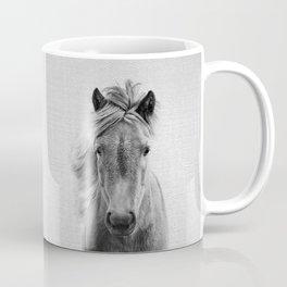 Wild Horse - Black & White Coffee Mug