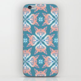 Pastel Fox Pattern iPhone Skin