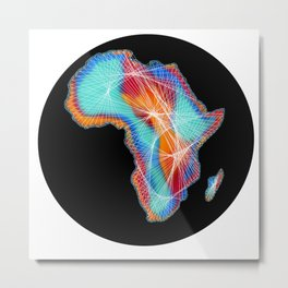 African continent Metal Print