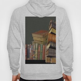 DECORATIVE  ANTIQUE LIBRARY, LEDGERS &  BOOKS ART Hoody