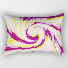 Groovy Pink Yellow Swirl Rectangular Pillow