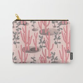 Pink tropical garden Carry-All Pouch