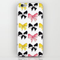 bows iPhone & iPod Skins featuring Bows by erin m higgins