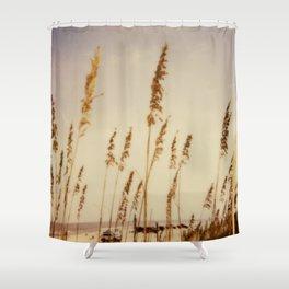 Beach Grass - Polaroid Shower Curtain