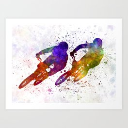 BMX Race Art Print